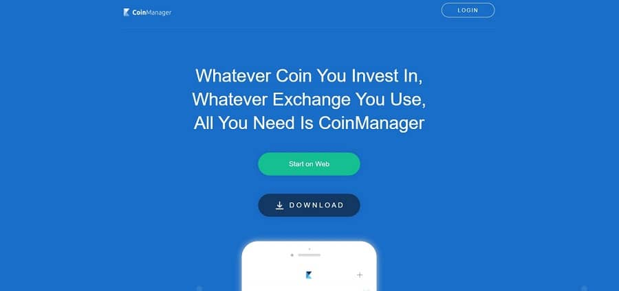 CoinManager - crypto trackers
