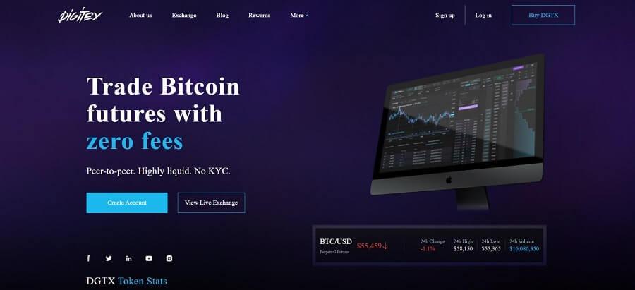 Digitex - free crypto trading