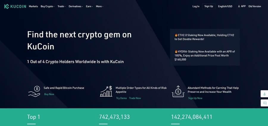 KuCoin - free crypto trading