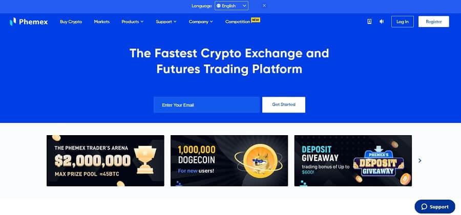 Phemex - free crypto trading