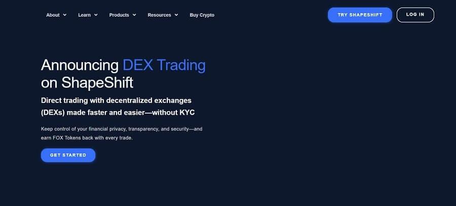 ShapeShift - free crypto trading