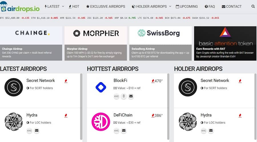 best cryptocurrency apps – Airdrops